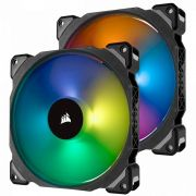 Corsair 140 PRO RGB LED PWM Premium Magnetic Levitation Fan Twin Fan Pack with Lighting Node PRO (CO-9050078-WW)