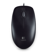 Logitech B100 Optical USB Mouse Black (910-003357)
