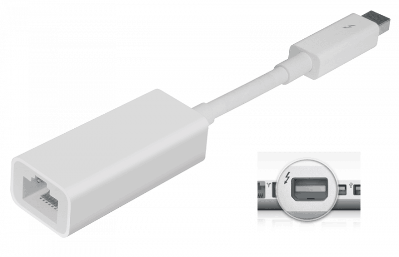 Apple Thunderbolt - Gigabit Ethernet Adapter (md463zm/a)